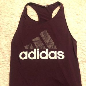 ADIDAS PURPLE WORK OUT TANK TOP